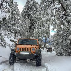 Jeep Euphoria — There's just something soothing about snow covered. Jeep Jl, Jeep Cars, Jeep Truck, Orange Jeep Wrangler, Jeep Wrangler Soft Top, My Dream Car, Dream Cars, Jeep Convertible, Adventure 4x4