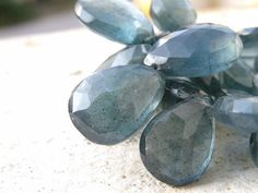 Moss Aquamarine Gemstone AAA Faceted Teal by somsstudiosupplies, $36.00