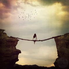 """Solitude maybe? Drifting into solitude, drifting away from while drifting toward something, something. Drifting - in """"Solitude. Surrealism Photography, Art Photography, Lonely Girl Photography, Landscape Photography, Blind Faith, Foto Art, Solitude, Photo Manipulation, Belle Photo"""