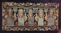 Wise and Foolish Virgins tapestry - medieval style, 19th century, link to Norwegian Textile Letter