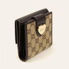 203549 Ahb1g 2783 Klappe Franz?sisch Geldb?rse mit eingraviertem Gucci Skript-Logo Herz-Detail Gucci Damen Portemonnaie