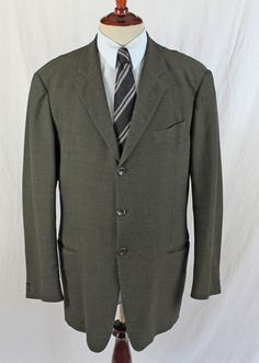 Armani Collezioni Barneys New York Blazer 3 Button Suit Jacket 44L made in Italy #ArmaniCollezioni #ThreeButton