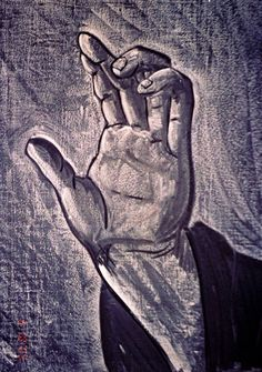 Waldorf ~ 8th grade ~ Anatomy ~ Hand ~ chalkboard drawing
