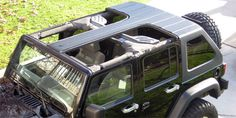 JKU 4 Door T-Top With Rear OEM Windshield Wiper (For Jeep Wranglers 2007 - 2013) UNPAINTED - Click Image to Close
