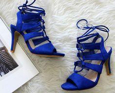 Royal blue sandals Blue Sandals, Royal Blue, Heels, Fashion, Bebe, Heel, Moda, La Mode, Pumps Heels