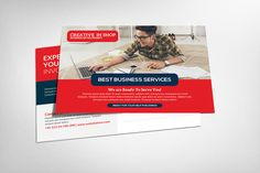 Business Postcard Template by Party Flyers on @creativework247