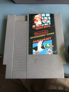 Vintage Nintendo NES Super Mario Bros. and Duck Hunt Game