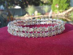 Sterling Silver Tiara Crown Hairpiece  Beautiful by ChicAvantGarde