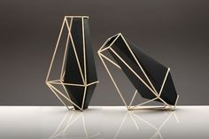 Martin Azua's beautifully geometric Union Suiza vases?! Awesomely angular and multi-faceted, these gorgeous vases are works of art with or without flowers.