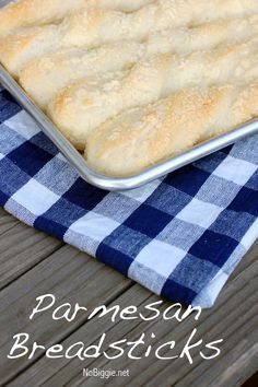 Parmesan Breadsticks - big soft, fluffy and cheesy…what more could you ask for - recipe on NoBiggie.net