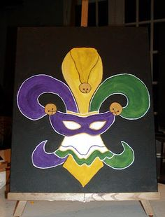 Mardi Gras Fleur de lis.  My two favorite things....right now...lol