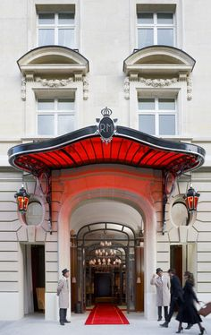 incredible phillippe starck entryway to the iconic Le Royal Monceau.. paris, of course