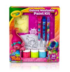 Crayola Trolls Deluxe Washable Paint Kit on Behance Kids Castle, 4th Birthday Cakes, 10 Birthday, Troll Party, Holiday Crafts For Kids, Kid Crafts, Washable Paint, Kits For Kids, Holidays With Kids