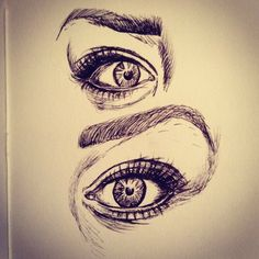 Study of eyes // Pen Drawing Artwork Sketch