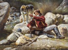 Alfredo Rodriguez American Indian Art, Native American Art, American Indians, Cowboy Art, Mountain Man, Historical Art, Cool Paintings, Old West, Western Art