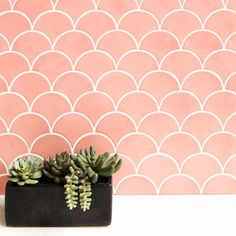 Use Pantone's Color of the Year 2019 with Grapefruit Glaze – Mercury Mosaics Mercury Mosaics, Kitchen Colors, Tiles, Blue Kitchens, Kitchen Tiles, Boho Chic Living Room, Pink Tiles, Pantone Color, Colorful Interiors
