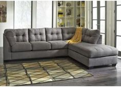 Maier Charcoal Right Arm Facing End Sectional, /category/living-room/maier-charcoal-right-arm-facing-end-sectional.html  $759.99