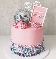 ' Time to put on your dancing shoes and enjoy a slice of this disco cake by in Perth! Wishing you a sweet and happy weekend! Dance Party Birthday, Girl Birthday, Birthday Parties, 9th Birthday Cake, Birthday Ideas, Golden Birthday, Karaoke Party, 70s Party, Party Time