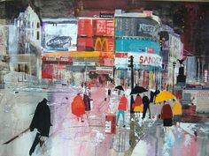 Heading for the tube, Piccadilly Circus by Nagib Karsan (was born in Tanzania in 1955)