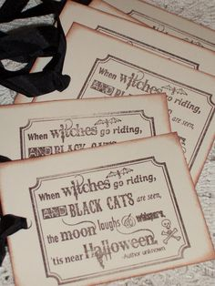 Halloween Gift Tags Halloween Witch and Black by tinkerbellshop