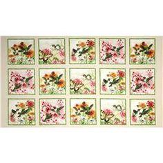Hummingbirds Panel Cream