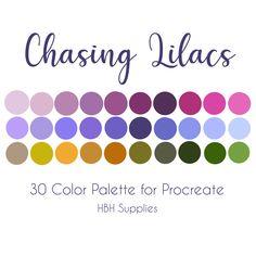 Colour Pallete, Colour Schemes, Color Combos, Color Palettes, Color Swatches, Paint Swatches, Ipad Art, Lilac Color, Etsy App