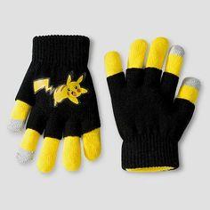 Boys' Pokemon Gloves - Black/Yellow One Size