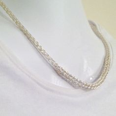 Ladies non tarnish silver viking knit princess length necklace by DonnaDStore on Etsy