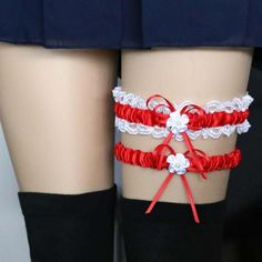 fe6d207f6 Harajuku Lace Leg Chain Harness Garters Flores De Noiva