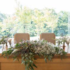 可愛い高砂メインテーブルコーディネート事例 | marry[マリー] Wedding Table Decorations, Table Flowers, Flower Bouquet Wedding, Wedding Images, Dried Flowers, Perfect Wedding, Flower Arrangements, Centerpieces, Banquet