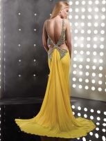 Buy Amazing Fascinating Beaded Sheath/Column Straps Sweep Train Evening Dress under 300-SinoAnt.com