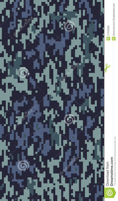 Digital army camouflage pattern with various blue tones