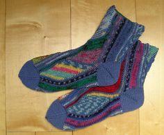 """Strickanleitung Socken """"Meereswellen"""" von Knitteltante auf DaWanda.com"""