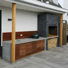 Diy Outdoor Kitchen, Outdoor Oven, Outdoor Decor, Garden Pool, Backyard Patio, Barbacoa, Bbq Area, Covered Decks, Garden Inspiration