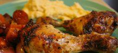 poulet mariné dans une sauce vinaigre balsamique et moutarde