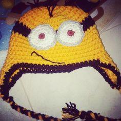 #minioncrochethat #hechoamano #gorrotejido #crochetdenieves