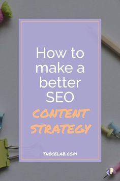How to make a better SEO content strategy Seo Strategy, Content Marketing Strategy, Seo Marketing, Marketing Ideas, Mobile Marketing, Digital Marketing, Facebook Marketing, Business Marketing, Media Marketing