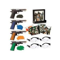 Undead Apocalypse Zombie Fun Kit Train for the zombie invasion and keep your skills sharp with the Zombie Fun Kit. Be sure to wear the eye protection when playing with this kit. The guns are durable and surprisingly accurate and come with plastic color coated b.b's.