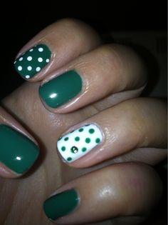 Cute dots and rhinestone