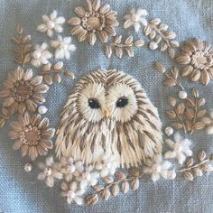 Wonderful Ribbon Embroidery Flowers by Hand Ideas. Enchanting Ribbon Embroidery Flowers by Hand Ideas. Hand Embroidery Stitches, Silk Ribbon Embroidery, Hand Embroidery Designs, Diy Embroidery, Cross Stitch Embroidery, Hand Stitching, Knitting Stitches, Embroidery Needles, Embroidery Sampler