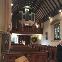 """Singing at St Nicholas church in Wickham today. Lovely church soon to celebrate 900 years. Big family funeral this man had 17 children. Sang traditional gyms and a first for me rather than playing Frank Sinatra they asked me to sing """"My Way"""". It's a great number.  #CofEFuneral #AnglicanFuneral #FuneralSinger #FuneralSingers #CremationSinger #FuneralMusic #FuneralMusician #GravesideSinger #BurialSinger"""