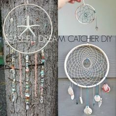 Who dosen't love dreamcatchers or long walks on the beach? Let vacation memories stave off work worries by weaving shells from your last destination into your hand made creation!