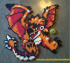 Rathalos beadsprite from Monster Hunter. Sprite made by NICKtendo DS, used with permission. Check it out on my Etsy store - www.etsy.com/shop/RedCometBeads