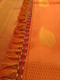 tassels for saree Saree Tassels Designs, Saree Kuchu Designs, Saree With Belt, Saree Accessories, Simple Blouse Designs, Kutch Work, Saree Border, Designer Blouse Patterns, Saree Collection