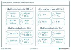 Ficha de longitudes iguales para primaria
