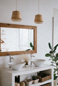 Balinese Bathroom, Natural Bathroom, Boho Bathroom, Spa Interior, Natural Interior, Bathroom Interior Design, Balinese Interior, Nosara, Deco Spa