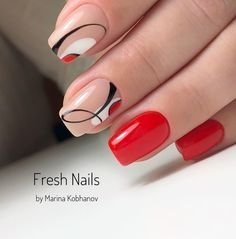 There are three kinds of fake nails which all come from the family of plastics. Acrylic nails are a liquid and powder mix. They are mixed in front of you and then they are brushed onto your nails and shaped. These nails are air dried. Nail Manicure, Gel Nails, Nail Polish, Trendy Nails, Cute Nails, Nagellack Trends, New Nail Art, Nagel Gel, Beautiful Nail Art