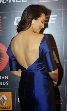 Bollywood Actress Sonakshi Sinha in Bare Back Backless in Tight Blue Dress Photos. Sonakshi Sinha act in Dabangg, Rowdy Rathore, Son Of Sardar, Dabangg 2, Himmatwala, Lootera, Boss, Bullett Raja, Action Jackson Hindi Movie and Lingaa Tamil Film.