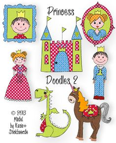 Princess Doodles 2 Machine embroidery