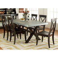 Liberty Furniture Dayton 7 Piece Trestle Table Dining Set   219 CD 7TRS